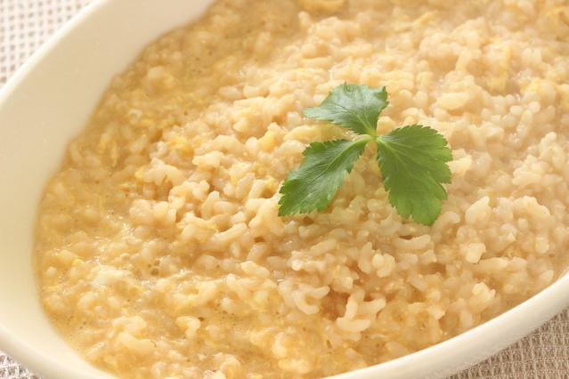 玄米の卵粥